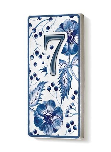The Mia Kapı Numarası Mavi Beyaz 7 Mavi